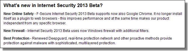 What's New with Internet Security 2013