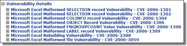July's Excel Vulnerabilities