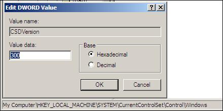 XP SP2 Registry Hack