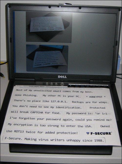Laptop stickers 2008