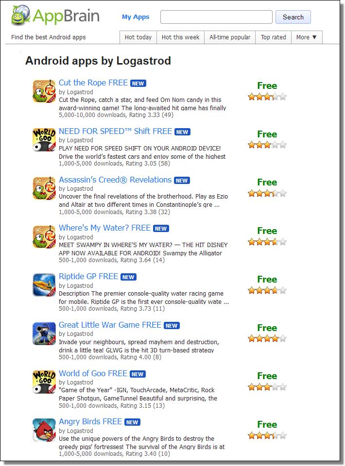 http://www.appbrain.com/search?q=logastrod