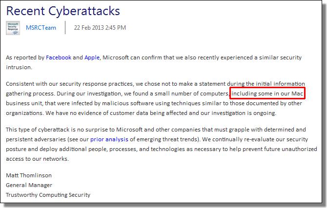 MSRCTeam, Recent Cyberattacks