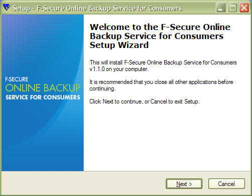 F-Secure Online Backup Service for Consumers
