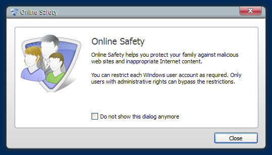Online Safety dialog