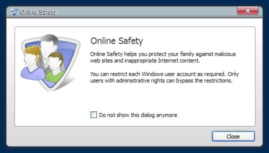 Online Safety dialog