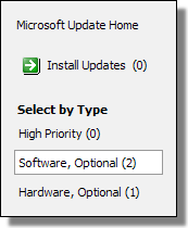 Optional software updates