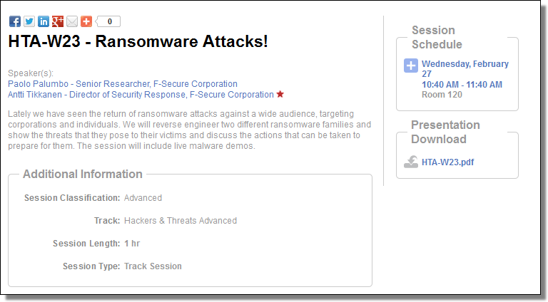 RSA HTA-W23, Ransomware Attacks!