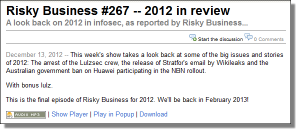 RiskyBusiness2012Review