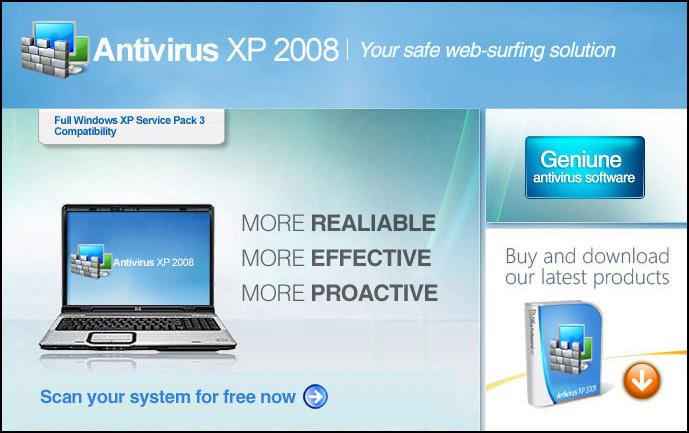 Spyware Rogue : Antivirus XP 2008