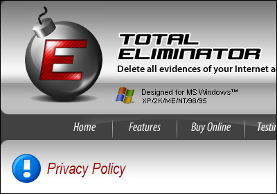 Rogue TotalEliminator - Privacy Policy