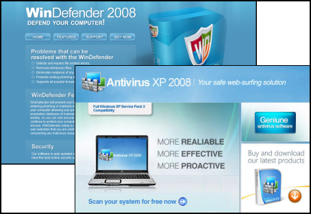 Rogue WinDefender 2008 and Antivirus XP