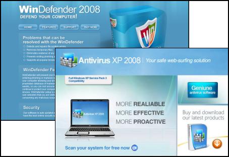 Rogue WinDefender 2008 and Antivirus XP