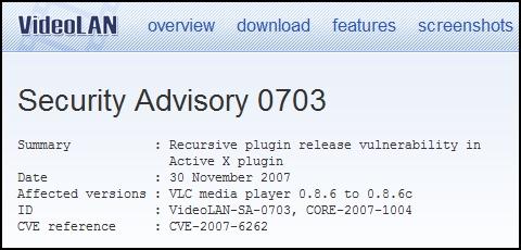 VLC Advisory
