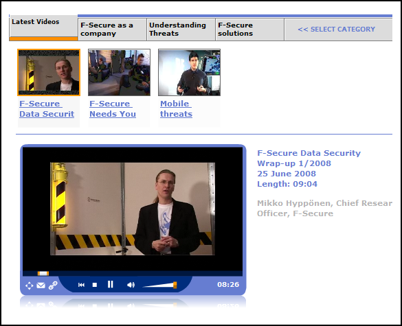 Security Summary H1 2008 Video-Channel