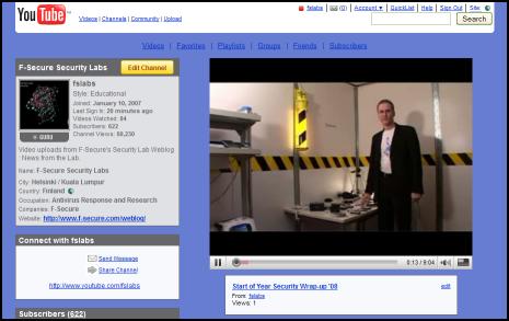 Security Summary H1 2008 YouTube