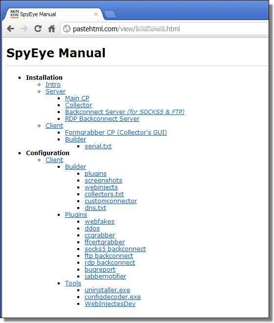 SpyEye Manual