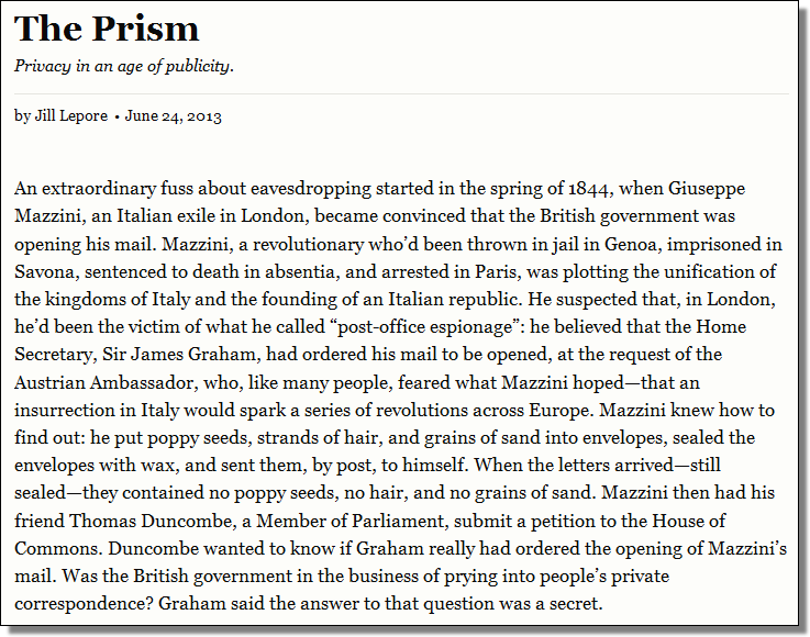 The Prism, Jill Lepore