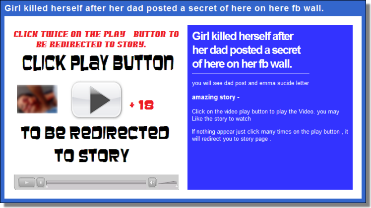 If nothing appear just click many times on the play button , it will redirect you to story page.