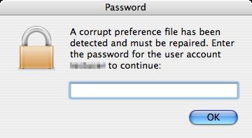 Trojan, výzva k zadání hesla