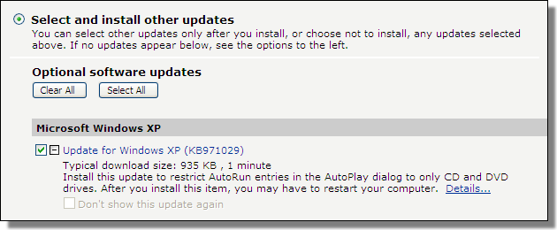 Update for Windows XP (KB971029)