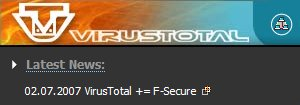VirusTotal + F-Secure