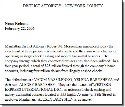 Western Express Indictment