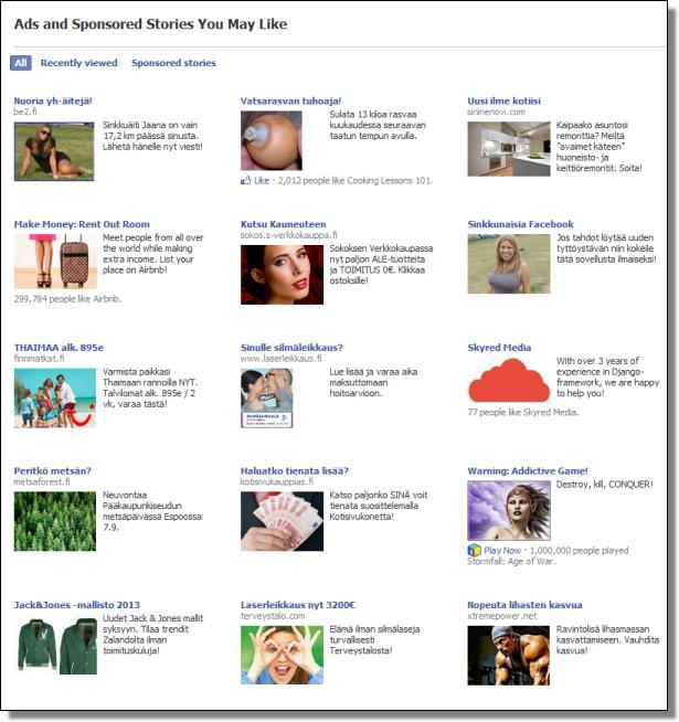 Facebook Sponsors