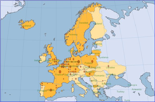 WorldMap Small.DAM in Europe