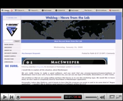 YouTube FSLabs - MacSweeper Demo