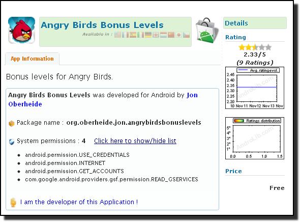 Angry Birds trojan