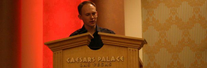 Alexander Tereshkin presenting