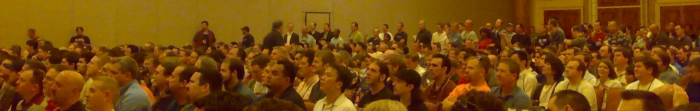 People attending Dan Kaminsky's talk