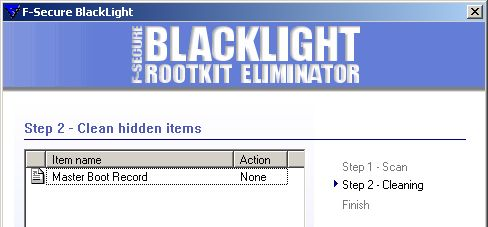BlackLight detecting MBR rootkit