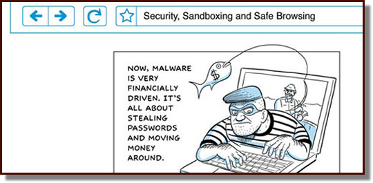 Snippet from the Chrome Cartoon by the great Scott McCloud