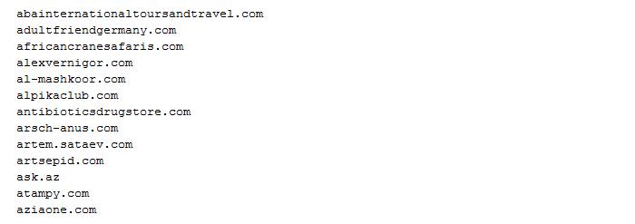 Havex C2 servers