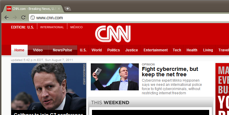 Mikko Hypponen on CNN cover page