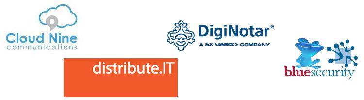 Diginotar, Cloud 9 Communications, Blue Frog, Distribute.IT