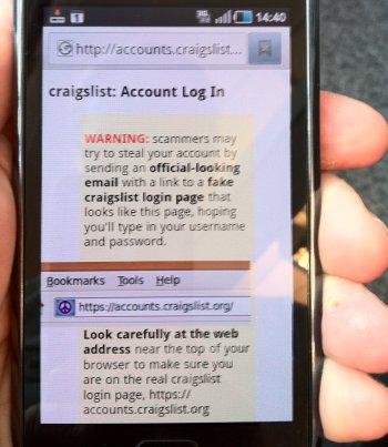 craigslist scam android