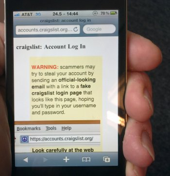 craigslist scam iphone