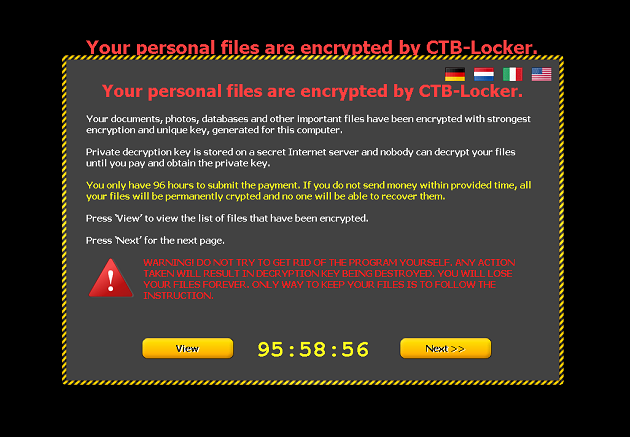 CTB-Locker ransom notice