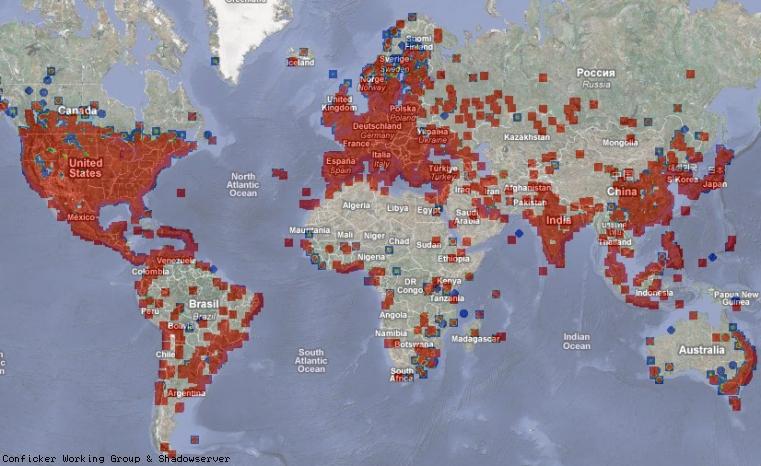 Conficker World Map