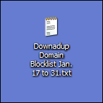 Downadup Domain Blocklist 17th to 31st