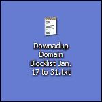 Downadup Domain Blocklist 17th to 31st