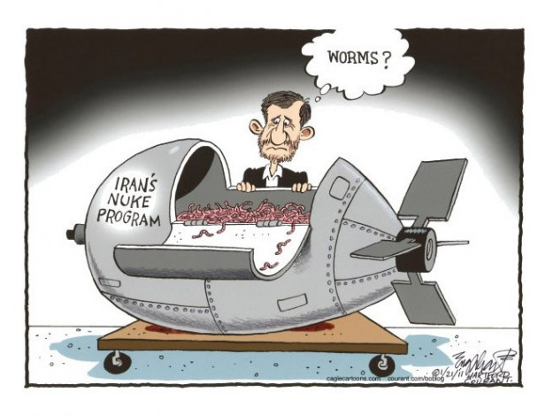 Stuxnet cartoon