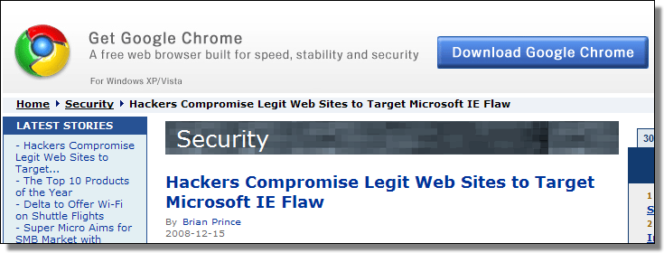 http://www.eweek.com/c/a/Security/Hackers-Compromise-Legit-Web-Sites-to-Target-Microsoft-IE-Flaw/?kc=rss