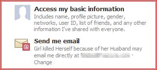 Facebook App Spam