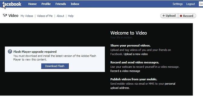 Facebook vid malware