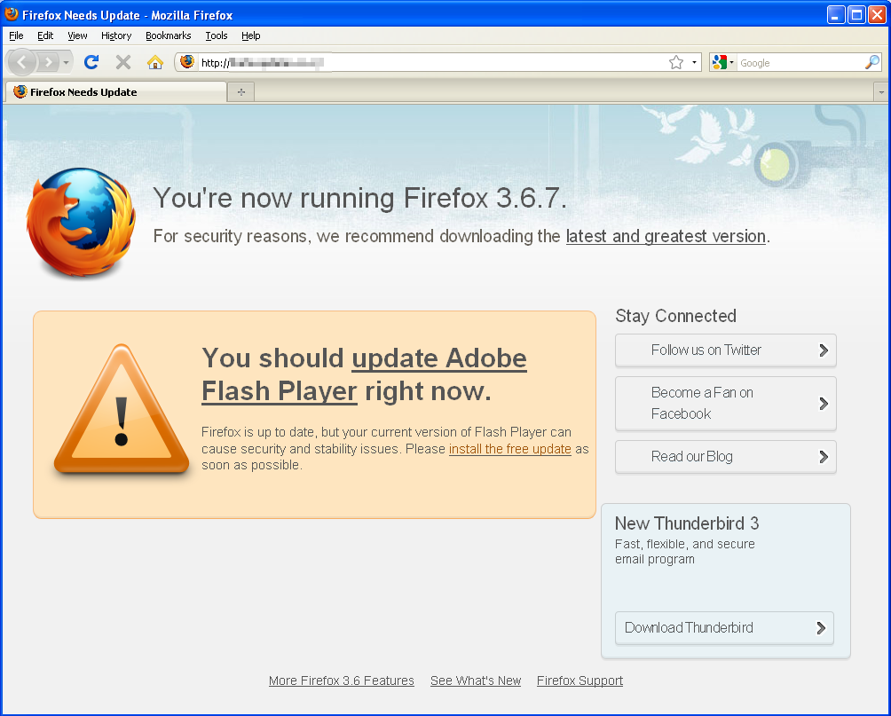 Rogue AV Masquerades as a Firefox/Flash Update