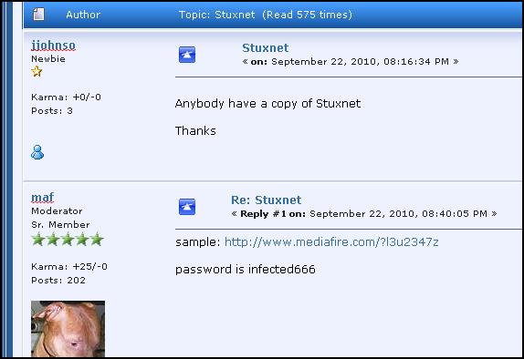 Finding Stuxnet