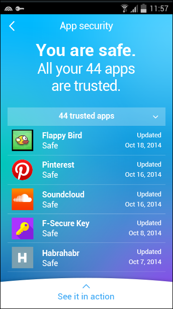 Freedome beta, App security